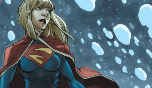 Supergirl In A Cafe